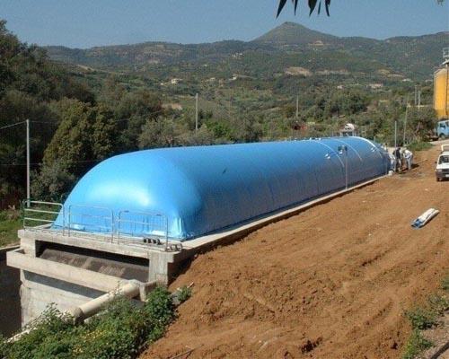 канальный биореактор с эластичным газгольдером