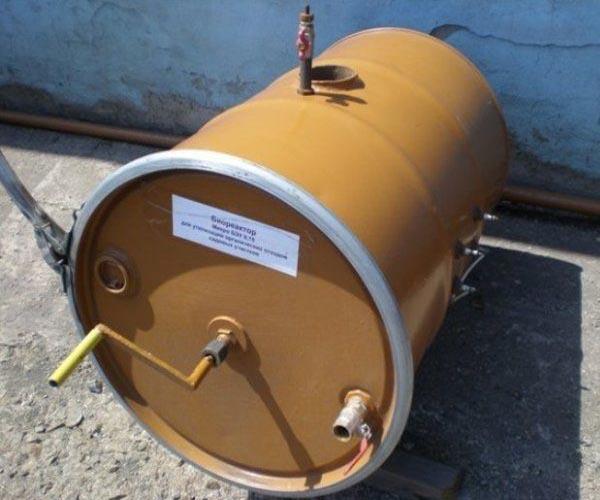 мини биогазовая установка