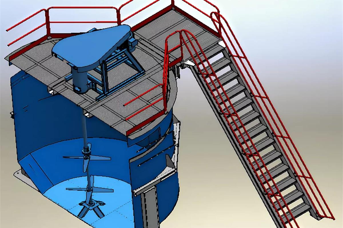 Мешалки для реакторов с вертикальной загрузкой сырья